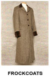 Authentic Western and Victorian Period Frockcoats and Sack Coats Available In A Wide Variety of Designs